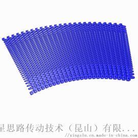 定製鏤空塑料網帶鏈板 可轉彎輸送大距離儲瓶臺