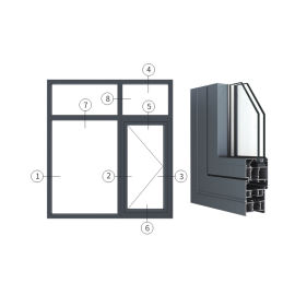 广东兴发铝材创高AL6024A系列外平开窗