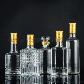 500毫升高白料玻璃白酒瓶生产厂家