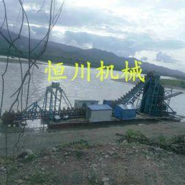 恒川大型淘金船生产厂家 恒川淘金平台 采金船