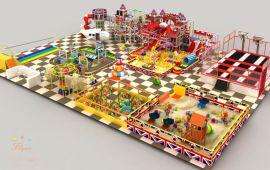 个性英伦淘气堡 儿童乐园游乐设备定制 飞翔家英伦主题淘气堡