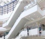 购物电梯区域铝单板  中庭四周白色铝单板