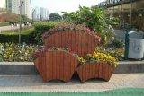 木制阳台花箱,水泥仿木花箱,复古式花箱