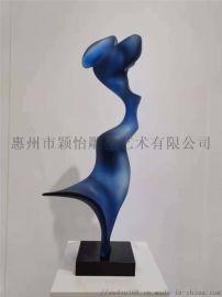 現代大型落地玻璃鋼雕塑-公園雕塑