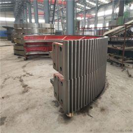 建奎2.2x7米国标铸钢材质热处理的球磨机大齿轮