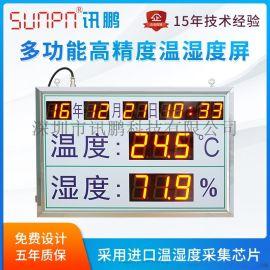 车间仓库工业LED温湿度时间显示屏环境监测看板系统
