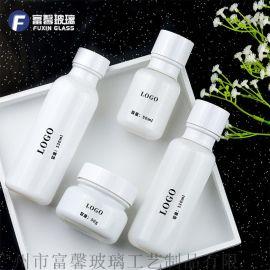 山羊奶玻璃瓶套装 爽肤水乳液膏霜瓶空瓶