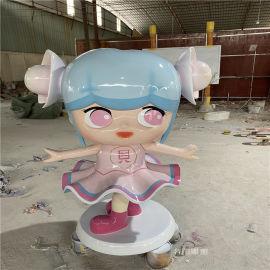 广州商场玻璃钢雕塑 卡通熊猫雕塑美陈