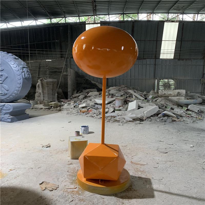 肇庆玻璃钢气球雕塑 玻璃钢彩色气球组合商业美陈装饰
