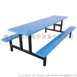 8人位食堂玻璃钢餐桌椅