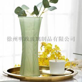 创意花瓶六角花瓶玻璃花瓶富贵竹花瓶客厅花瓶餐厅花瓶