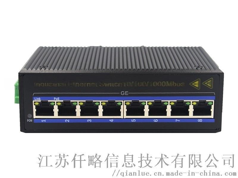 工業級千兆8口乙太網交換機