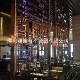 杭州別墅室內裝飾不鏽鋼屏風 咖啡色不鏽鋼屏風裝飾 鏡面鈦金屏風隔斷