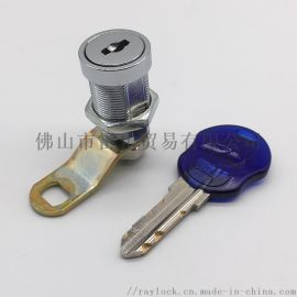 锌合金镀铬M19锁套娃娃机长门锁S匙同号转舌锁