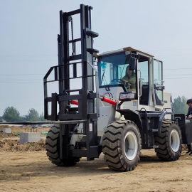 越野叉车 四驱装载式越野叉车 3吨货物搬运堆高车