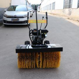 捷克多功能滚刷除雪机 手扶式道路积雪清扫机