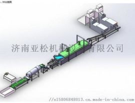 膨化设备厂家 济南亚松 早餐谷物、玉米片生产线