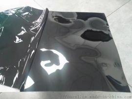 304#不锈钢黑钛水波纹装饰板定制加工