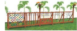 幼兒園木質滑梯兒童實木攀爬架遊樂設備碳化積木