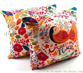 厂家订制数码印绒布抱枕