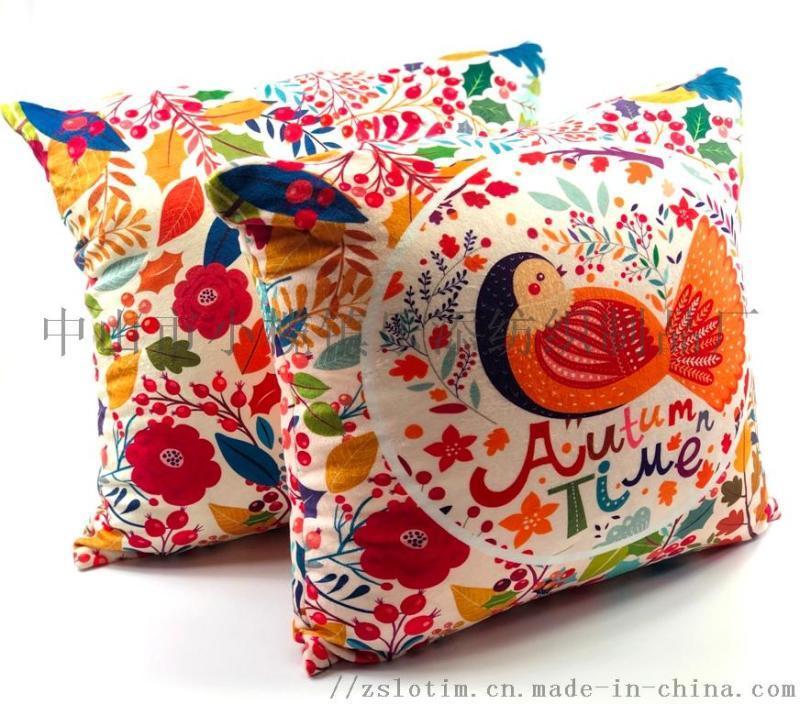 廠家訂製數碼印絨布抱枕