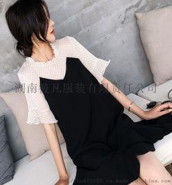 2020夏季新款韓版減齡洋氣腰粗遮肚子藏肉魚尾連衣裙女