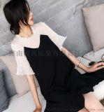 2020夏季新款韩版减龄洋气腰粗遮肚子藏肉鱼尾连衣裙女