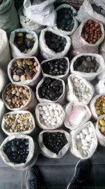 周至县白色鹅卵石厂家 西安市黑色白色雨花石销售商家