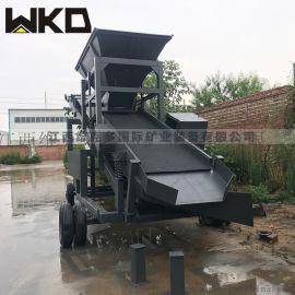 江西50型震动筛沙机 移动式筛沙机 全套洗砂机设备