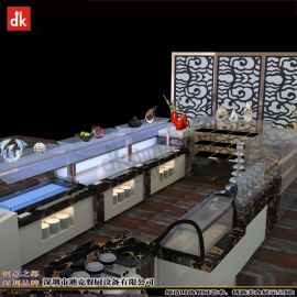 迪克集成热菜保温餐台设计 加拿大自助餐厅平面设计