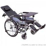 可躺高靠背带便孔硬座轮椅