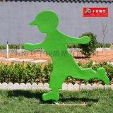 玻璃钢剪影运动人物公园雕塑