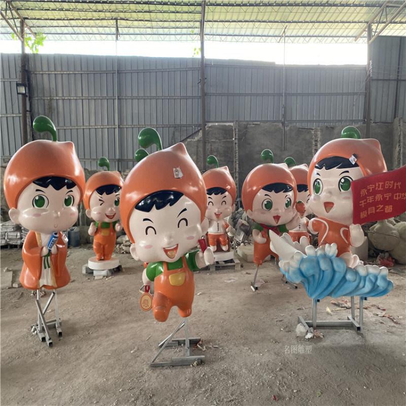 珠海游乐场卡通海豚雕塑 玻璃钢雕塑制作摆件