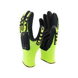 13針熒光黃TPR手套