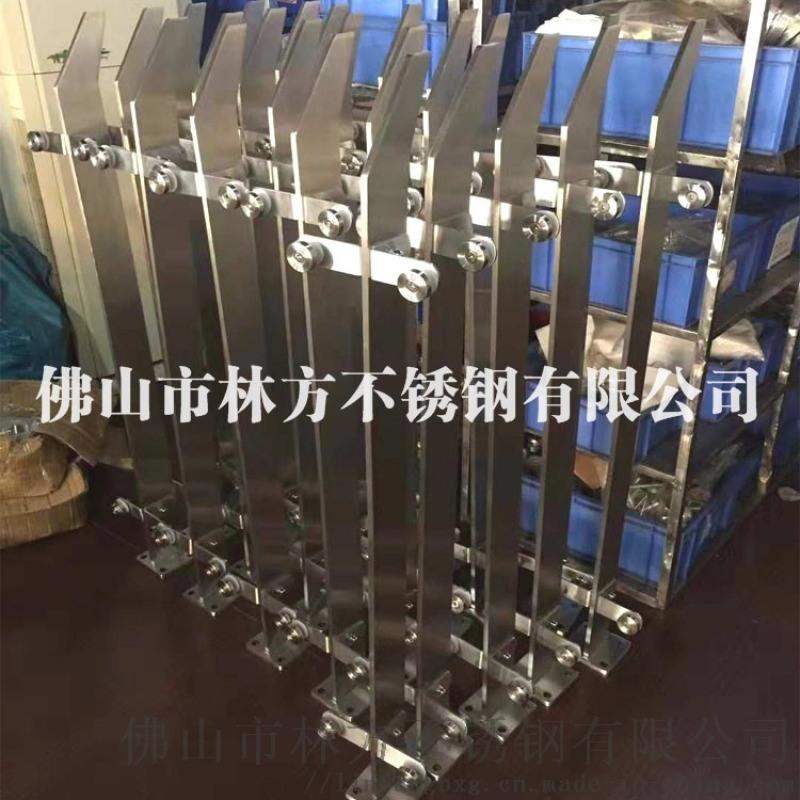 佛山不鏽鋼廠家 定製不鏽鋼扶手 拉絲鈦金不鏽鋼欄杆 不鏽鋼立柱