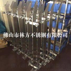 佛山不锈钢厂家 定制不锈钢扶手 拉丝钛金不锈钢栏杆 不锈钢立柱