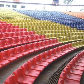 成都户外体育场馆看台座椅中空吹塑椅子