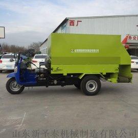 柴油TMR牛羊饲料撒料机 全自动双侧喂料车
