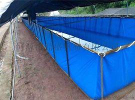 安徽大型戶外高密度帆布魚池養魚池定制各種尺寸