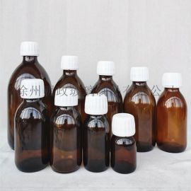 棕色玻璃瓶30毫升口服液瓶药品试剂瓶避光带盖密封
