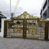 褐  式铝合金护栏咸阳渭城区庭院铝艺大门