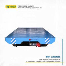 电动地平车搬运生产试验設備轨道过跨车 蓄电池平板车