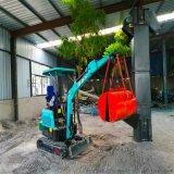国产挖机 挖掘机视频表演 六九重工 林场专业挖树