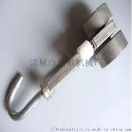 屠宰双轨滑轮钩子 镀锌材质滑轮挂钩可定制