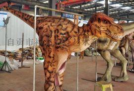 恐龙皮套生产厂家 仿真恐龙表演服 整蛊用恐龙服装