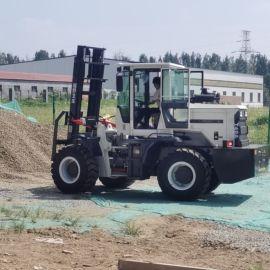 工地山地用越野叉车 厂家直销全地形3.5吨叉装机