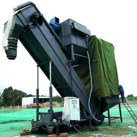 通畅集装箱卸灰机报价 水泥翻箱卸车机 熟料中转设备