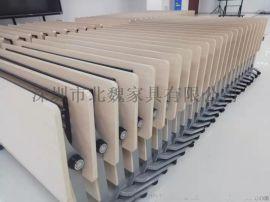 广东梯形桌彩色组合桌厂家