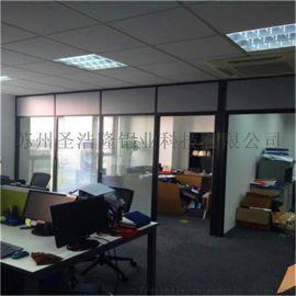 83款铝合金隔断办公室玻璃隔墙双玻百叶隔断