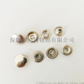 铜质大白扣金属材质车缝扣环保电镀过检针